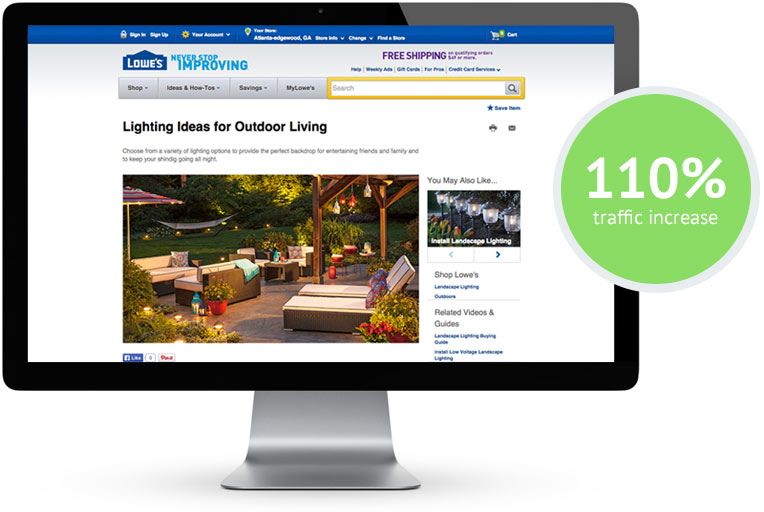 Lowe's Campaign Results 110% Traffic Increase